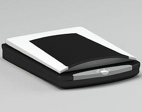 Black White Scanner 3D model