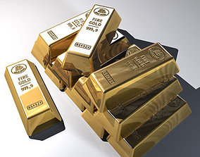 3D model Goldbars