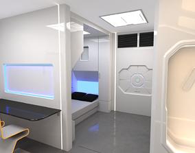 3D model Modular SCI-FI Interior Serie B Bed-Room