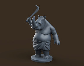 3D print model Indian Rhino Cartoon
