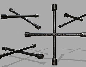Lug Wrench 3D asset game-ready
