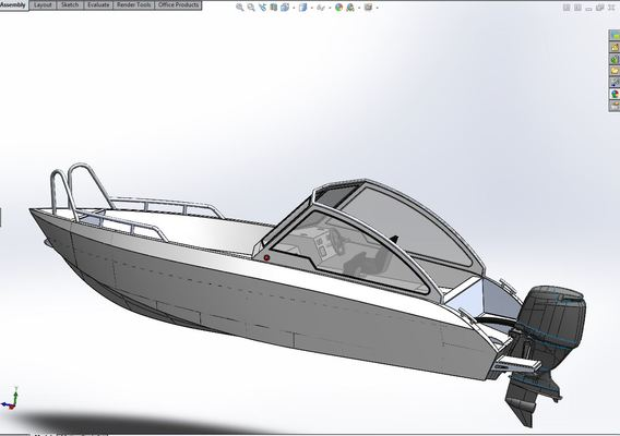 Aluminium boat 5.8 meters v2 cock