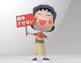 Maruko Chan for Peace 3D print model