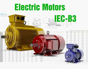 72 CAD Models - Electric motors IEC B3