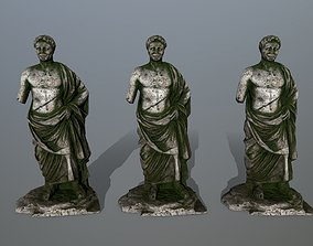 sculptural statue 1 3D asset game-ready