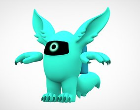 3D model Among Us Cyan Werewolf