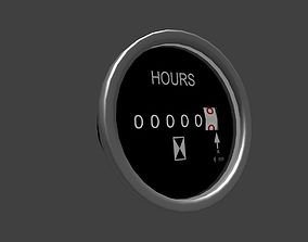 Heavy machine work time gauge 3D model