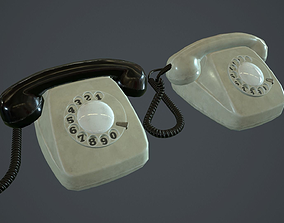 Retro Telephone PBR Game Ready 3D model