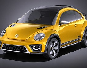 3D Volkswagen Beetle Dune Concept 2014 VRAY