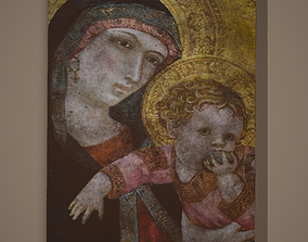 Madonna and Child Painting 3D model