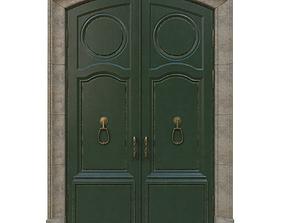 Entrance classic door 14 3D model