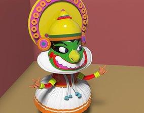 Kathakali south indian danceform Toy 3D printable model