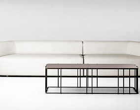 3D Christophe Delcourt Eko sofa and Ato table