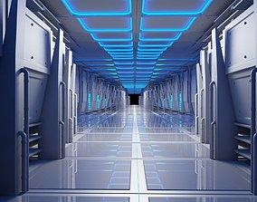3D Futuristic Tunnel Animated