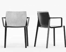 Chair Kristalia LP padded 3D model