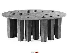 3D Oliver Gustav round coffee table