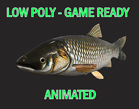 Low poly Amur Fish Animated - Game Ready 3D model