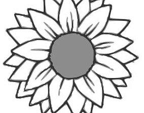 3D print model Sunflower Cookie Cutter