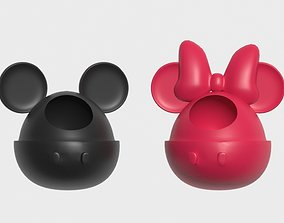 Minnie and mickey pot 3D printable model