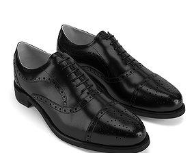footwear Semi Brogue Oxford PBR 3D