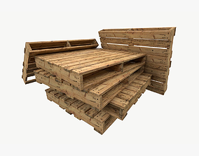 pallet type industrial reversible 3 sets of 3D asset