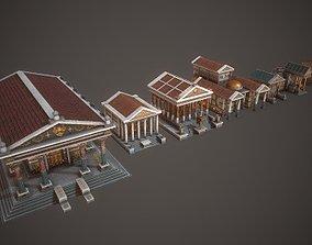 3D asset Ancient Temple Pack