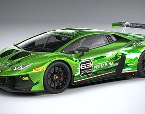 3D Lamborghini Huracan GT3 EVO Racecar 2019