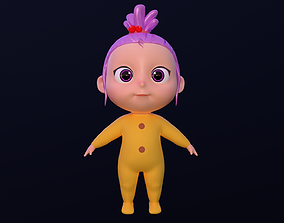 3D model Asset - Cartoons - Character - Baby Girl - Rig