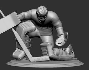 Hockey Player goalie Collectible Figure 4