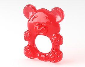 Baby Teether Bear 3D model