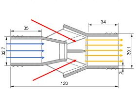 Water Suction Jet Pump Ejector vacuum 4 3D print model 1