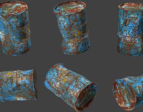 3D model rigged barrel