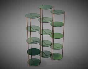 Long Playing etagere 3 columns by Eponimo 3D model