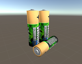 game-ready Battery 3d model