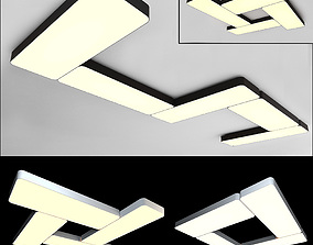 Ceiling lamps set 005 3D model