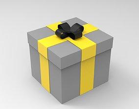 3D model game-ready Gift Box