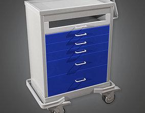 Medical Supply Cart 05 HPL - PBR Game Ready 3D asset