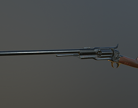 Spectacular Colt Revolving Carbine 1855 3D asset