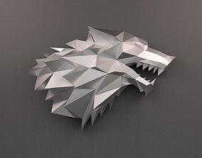 House Stark Sigil low poly 3D print model