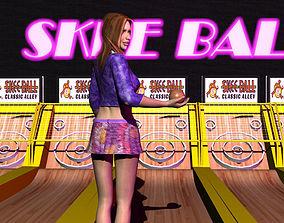 3D model Skeeball