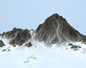 snow mountain iceberg 3D model VR / AR ready