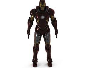 Iron Man Rigged Animated 3D model
