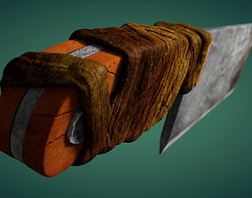 3D model Meat Cleaver Chopper Knife
