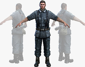 3D model WWII Nazi Soldier