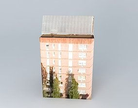 Building in Barcelona Spain 3D
