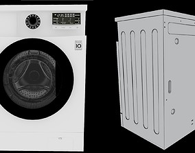 Washing Machine LG Detailed at Back 3D