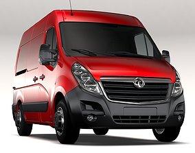 3D Vauxhall Movano L1H2 Van 2016