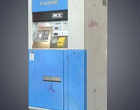 3D model Metro ticket machine