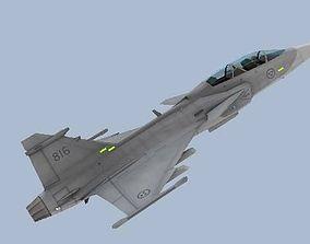 3D model JAS 39D Gripen