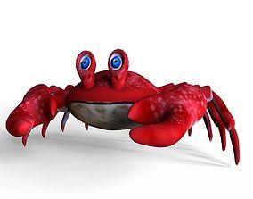 3D asset Crab Toon